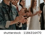the applause. business event... | Shutterstock . vector #1186316470