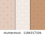 brown and white geometric... | Shutterstock .eps vector #1186317106