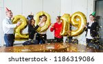 business people celebrating... | Shutterstock . vector #1186319086