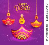 banner for happy diwali ... | Shutterstock .eps vector #1186321450