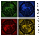 collection of 4 abstract radar... | Shutterstock .eps vector #1186321690