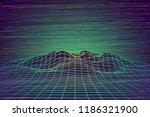futuristic abstract vector mesh ... | Shutterstock .eps vector #1186321900