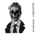hand drawn portrait of a... | Shutterstock .eps vector #1186329700