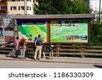 ortesei  italy   aug 5  2018  ...   Shutterstock . vector #1186330309
