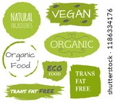 healthy food icons  labels ... | Shutterstock .eps vector #1186334176