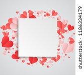 red heart paper festive white... | Shutterstock .eps vector #1186334179