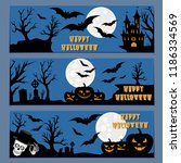 halloween banners leaflets... | Shutterstock .eps vector #1186334569