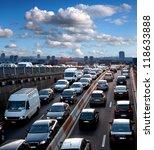 traffic jam. rush hour. cars....   Shutterstock . vector #118633888