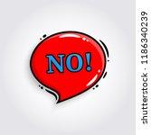 no. comic speech bubble  banner ...   Shutterstock .eps vector #1186340239