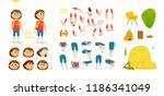 young school boy character for... | Shutterstock .eps vector #1186341049