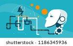 businessmen working on the... | Shutterstock .eps vector #1186345936