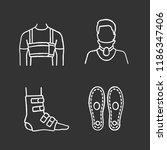 trauma treatment chalk icons... | Shutterstock .eps vector #1186347406