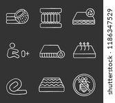 mattress chalk icons set.... | Shutterstock .eps vector #1186347529