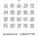 types of sites well crafted... | Shutterstock .eps vector #1186347790
