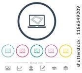 screen saver on laptop flat... | Shutterstock .eps vector #1186349209