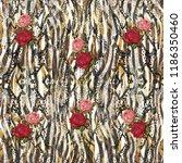 leopard pattern  leopard print  ... | Shutterstock . vector #1186350460