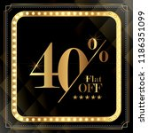 upto 40  off discount promotion ... | Shutterstock .eps vector #1186351099