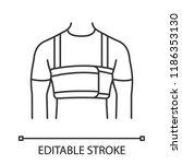 surgical men s rib belt linear... | Shutterstock .eps vector #1186353130