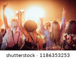 back view of group of female... | Shutterstock . vector #1186353253