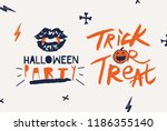 hallowen typograhy set....   Shutterstock .eps vector #1186355140