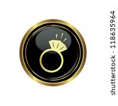 ring icon on the black with... | Shutterstock .eps vector #118635964