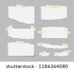 blanc torn paper sheets with... | Shutterstock .eps vector #1186364080