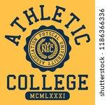vector varsity college... | Shutterstock .eps vector #1186366336