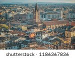 old medieval roman city from...   Shutterstock . vector #1186367836