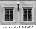 old vintage windows on the...   Shutterstock . vector #1186368196