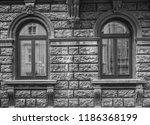 old dark grey brick vintage...   Shutterstock . vector #1186368199