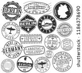 berlin germany stamp vector art ... | Shutterstock .eps vector #1186378690