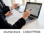 business team investment... | Shutterstock . vector #1186379506