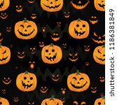 abstract halloween pattern for... | Shutterstock .eps vector #1186381849