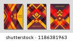 set of cover page layouts ... | Shutterstock .eps vector #1186381963