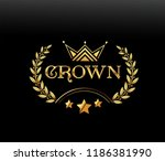 vector luxury sign gold crown.... | Shutterstock .eps vector #1186381990