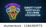 glowing neon sign of...   Shutterstock .eps vector #1186383973