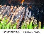 close up of huge bunch of... | Shutterstock . vector #1186387603