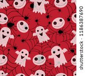 abstract seamless halloween... | Shutterstock .eps vector #1186387690