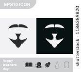 van dyke beard style. beard and ... | Shutterstock .eps vector #1186389820