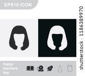 long style hair silhouette.... | Shutterstock .eps vector #1186389970