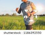 Running Man With Smart Watch....