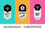honey labels  logo and... | Shutterstock .eps vector #1186394020