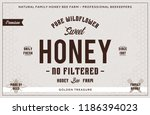 honey label and packaging... | Shutterstock .eps vector #1186394023