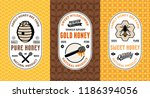 honey labels  logo and... | Shutterstock .eps vector #1186394056