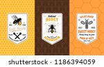 honey labels  logo and... | Shutterstock .eps vector #1186394059