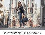 full length portrait of... | Shutterstock . vector #1186395349