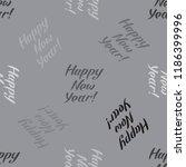 happy new year inscription... | Shutterstock .eps vector #1186399996