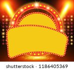 retro banner on stage with... | Shutterstock .eps vector #1186405369