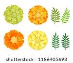 decorative orange  green yellow ...   Shutterstock .eps vector #1186405693