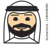 emoji with arab sheik or sheikh ...   Shutterstock .eps vector #1186408480